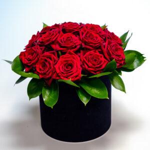Raudonų rožių kompozicija